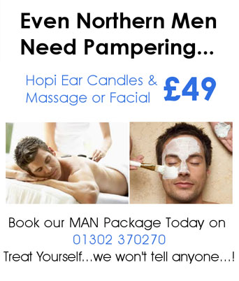 Mens massage and ear candles offer